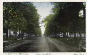NH - Canaan. Street Scene (Hand Colored)