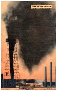 Texas  Gushing Oil Well