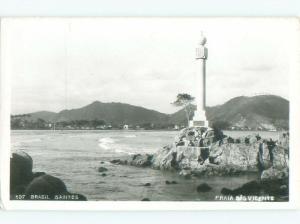 old rppc NICE VIEW Santos - Sao Paulo Brazil i1832