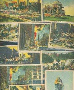 pc9217 postcard San Francisco Earthquake TEN all MOBSC NY Sunday American Journa