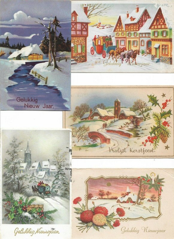Happy New Year Postcard Lot of 10 01.12