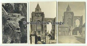 tq0008 - Lincs - Various Views of around Croyland Abbey - postcards x 3