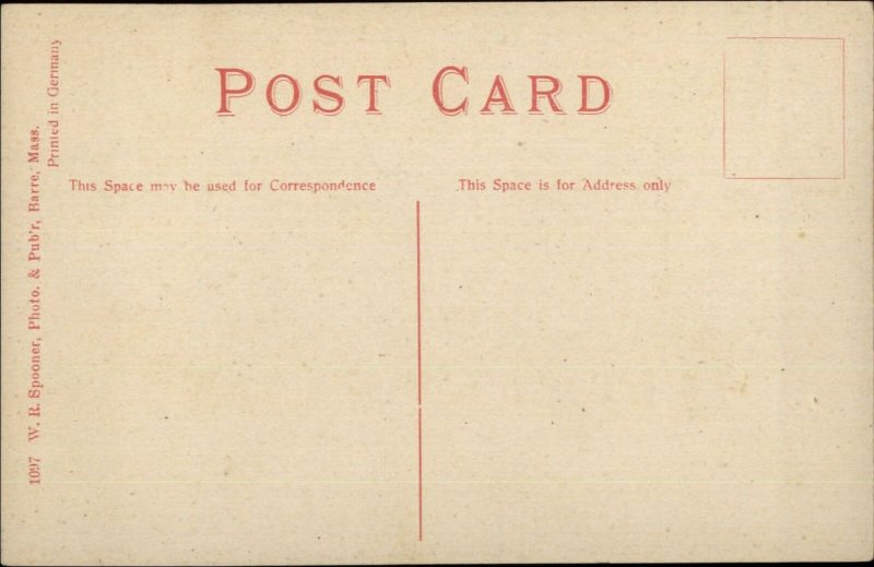 Barre MA Stagecoach Stage Coach c1910 Postcard