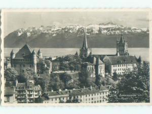 old rppc NICE VIEW Lausanne - Vaud - Lake Geneva Switzerland i3589