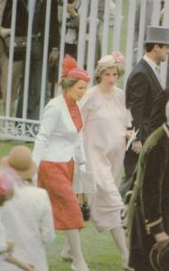 Princess Diana Horse Race At Ascot Royal Postcard