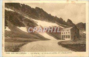 Old Postcard Iseran Pass Road Chalet Hotel and Ouglietta