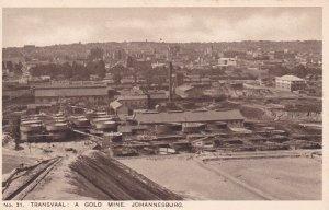 TRANSVAAL: a Gold Mine , Johannesburg , S.A. , 1900-10s
