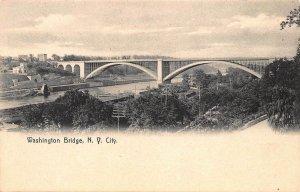 NEW YORK CITY~WASHINGTON BRIDGE-PANORAMIC VIEW~1900s ROTOGRAPH PHOTO POSTCARD