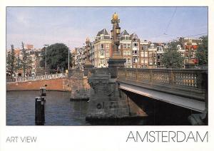 Netherlands Amsterdam Art View Pont River Bridge