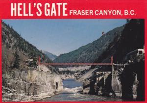 Bridge , HELL'S GATE , Fraser Canyon , B.C. , Canada , 60-80s