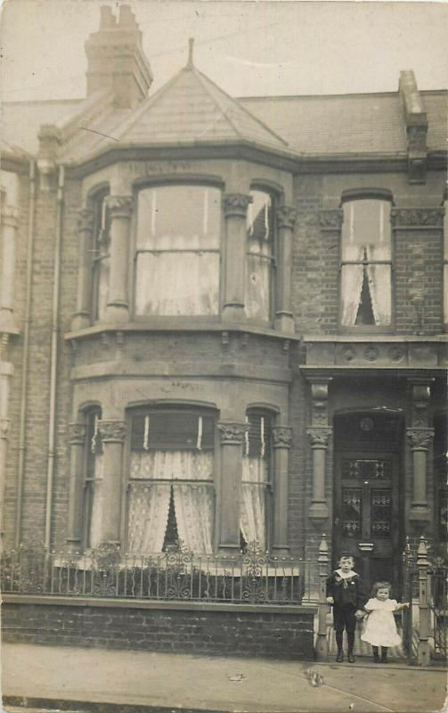 United Kingdom family social history house  early photo postcards x 3