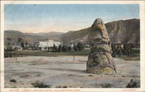 Yellowstone - HOTEL & LIBERTY CAP Haynes #103 c1915 Postcard EXC COND