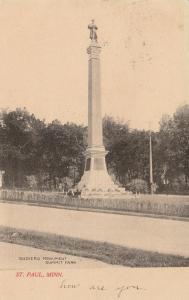 ST PAUL , Minnesota, PU-1907; Soldiers' Monument, Summit Park