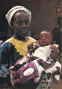 Postcard, Gambian Mother and Child, The Gambia, Africa, Black Woman, Fashion 47Z