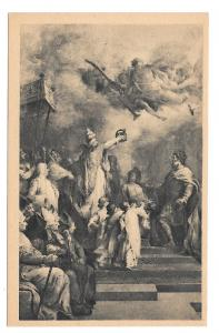 France Paris Pantheon Coronation of Charlemagne H Levy Painting Vintage Postcard