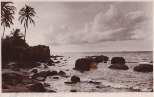 Singapore Beach in 1923 Real Photo Postcard