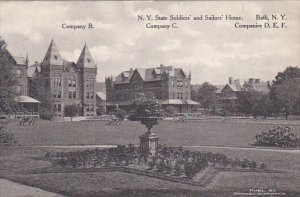 Company B C D E and F State Soldiers Home Bath New York Albertype