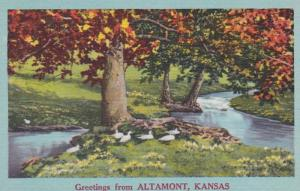 Kansas Greetings From Altamont
