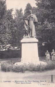 Belgium Louvain Monument de Pere Damien dans le Parc Saint Donat
