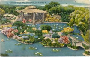 Sunken Gardens, Brackenridge Park San Antonio Texas TX, Linen