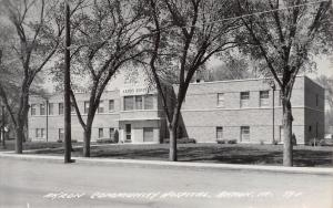 Akron Iowa~Akron Community Hospital~Art Deco Windows~1950s Real Photo~RPPC
