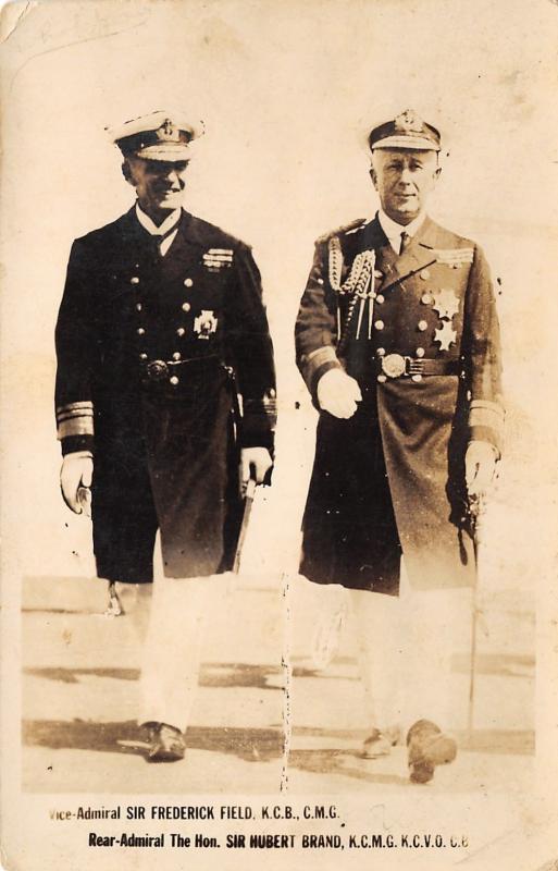 English Military~Admiral Frederick Field~Hubert Brand~Rather Classy Eh~1924 RPPC
