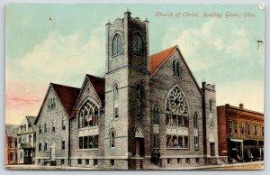 Bowling Green Ohio~Church of Christ~CF Barker & Son~Home~1910 Fred Hale Postcard