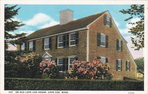 Massachusetts Cape Cod An Old Cape Cod House 1930