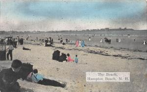 The Beach, Hampton Beach, New Hampshire, Early Postcard, Used in 1911