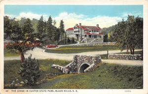 Black Hills South Dakota~Custer State Park~Lodge~Stone Bridge~Classic Car~1930s