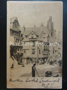 EDINBURGH John Knox House & McLeods TEMPERANCE HOTEL & Horse Muck Sweeper c1903