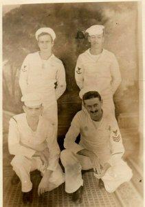 1940's RPPC WWII ID'd Sailors At Noumea New Catadonia Y6