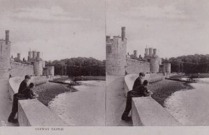 Stereoscope Postcard ; Conway Castle , UK , 00-10s ; TUCK 2224