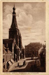 CPA Tilburg Markt-Heikekerk met Stadhuis NETHERLANDS (728922)