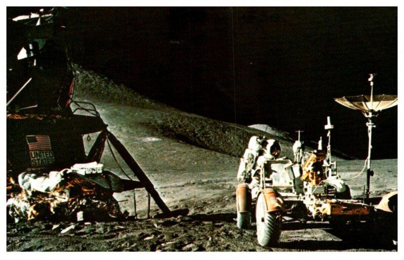 Astronaut James Irwin Lunar Roving Vehicle