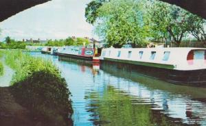 Penkridge Staffordshire Canal 1970s Postcard