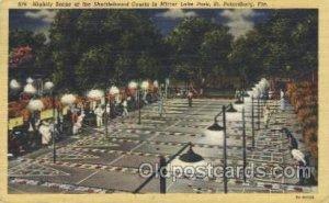Shuffleboard Courts in Mirror Lake Park Shuffle Board, Shuffleboard 1949 ligh...