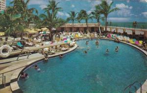 Florida Miami Beach The Saxony Resort Hotel Swimming Pool 1951