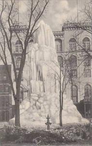 Ice Fountain, Washington Park, Detroit, Michigan, PU-1906