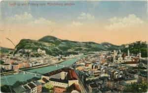 Austria Salzburg early panorama postcard