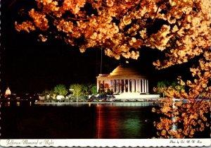 Washington D C Jefferson Memorial At Night 1973