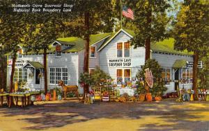 Mammoth Cave City KY~Souvenir Shop~Relics~Baskets~Pottery~Crafts~Deer~1950 Linen