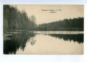 231566 RUSSIA TATAR KAZAN Swan lake Vintage postcard