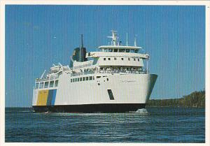 Canada Ferry M S Chi-Cheemaun At South Baymouth Ontario