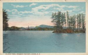 KEENE , New Hampshire, PU-1920; Wilson Pond, Swanzey Factory