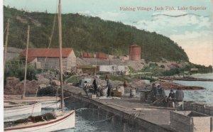 JACK FISH, Ontario, PU-1910; Fishing Village, Lake Superior