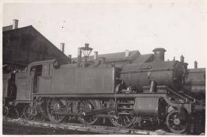 6154 Train at Swindon Class 2-6-2T Real Photo Railway Postcard