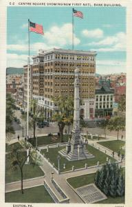 EASTON , Pennsylvania, 1900-10s ; Centre Square and Soldiers Monument