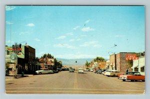 Roosevelt UT-Utah, Main Street, Hotel, Cafe, Chrome Postcard