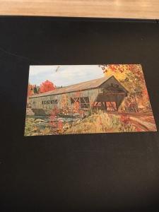 Vtg Postcard: Albany Covered Bridge, White Mountains , New Hampshire